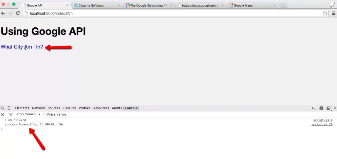 Ajax: Create a Location Finder App using jQuery & Google Maps API