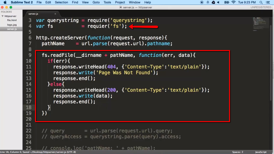 Create a Simple HTTP Server with Node js - iLoveCoding