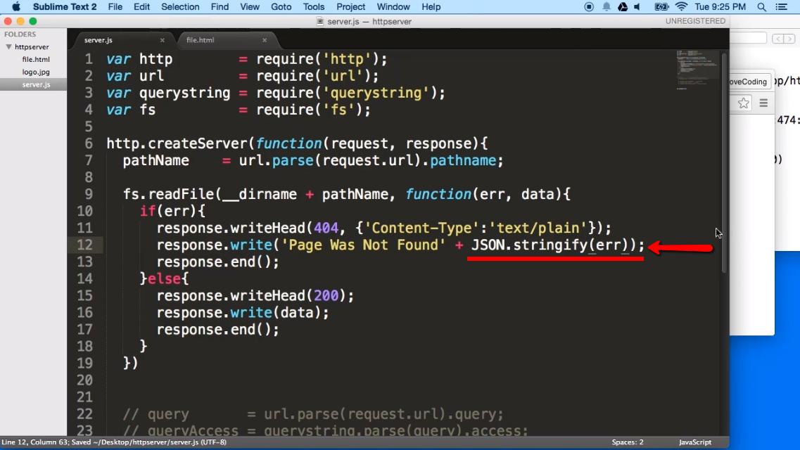 node js open file