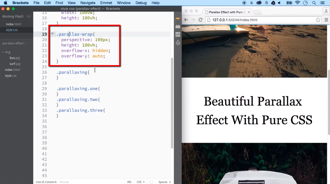 Create Beautiful Parallax Scrolling Effect with Pure CSS - iLoveCoding