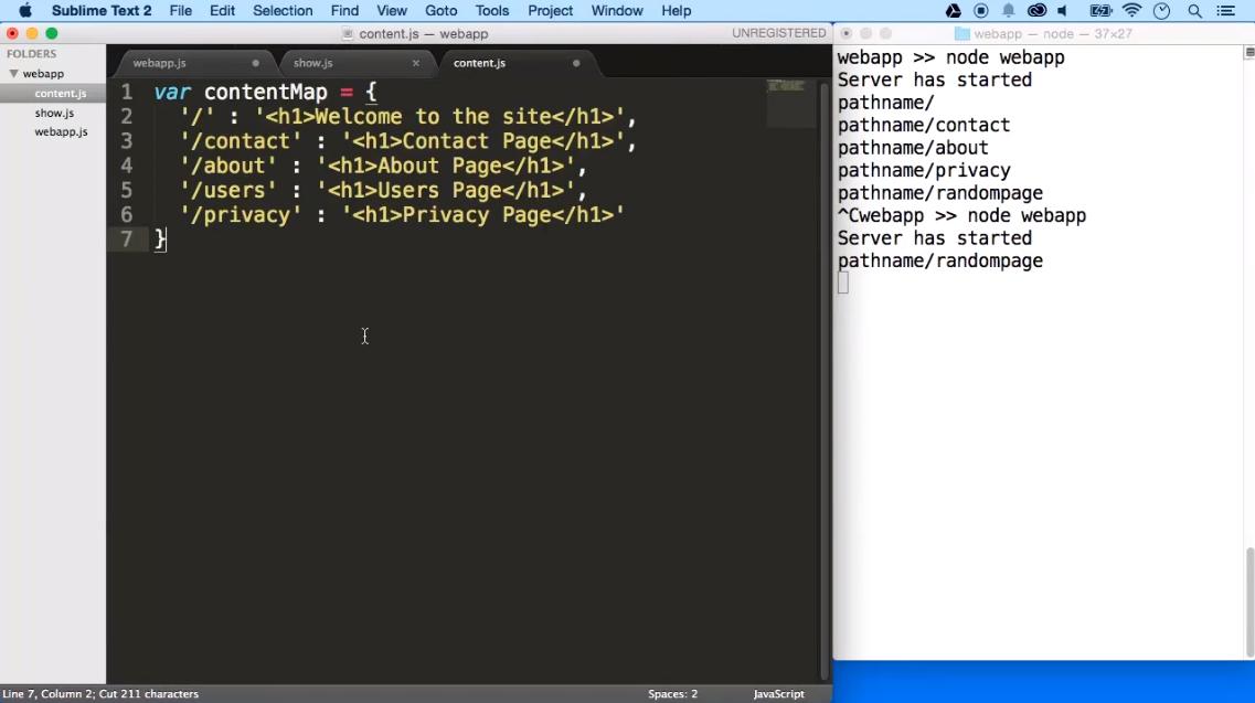 node.js html example