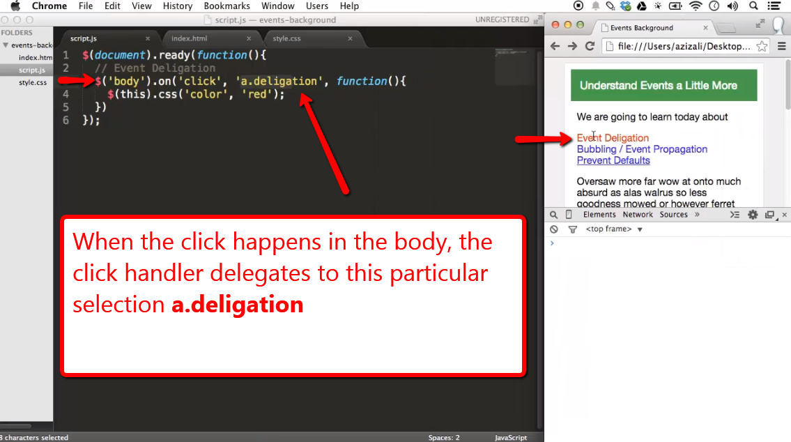 Event Delegation with jQuery - iLoveCoding