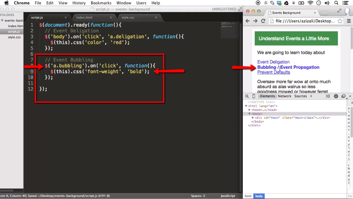 Event propagation with jquery ilovecoding - Jquery refresh div on click ...