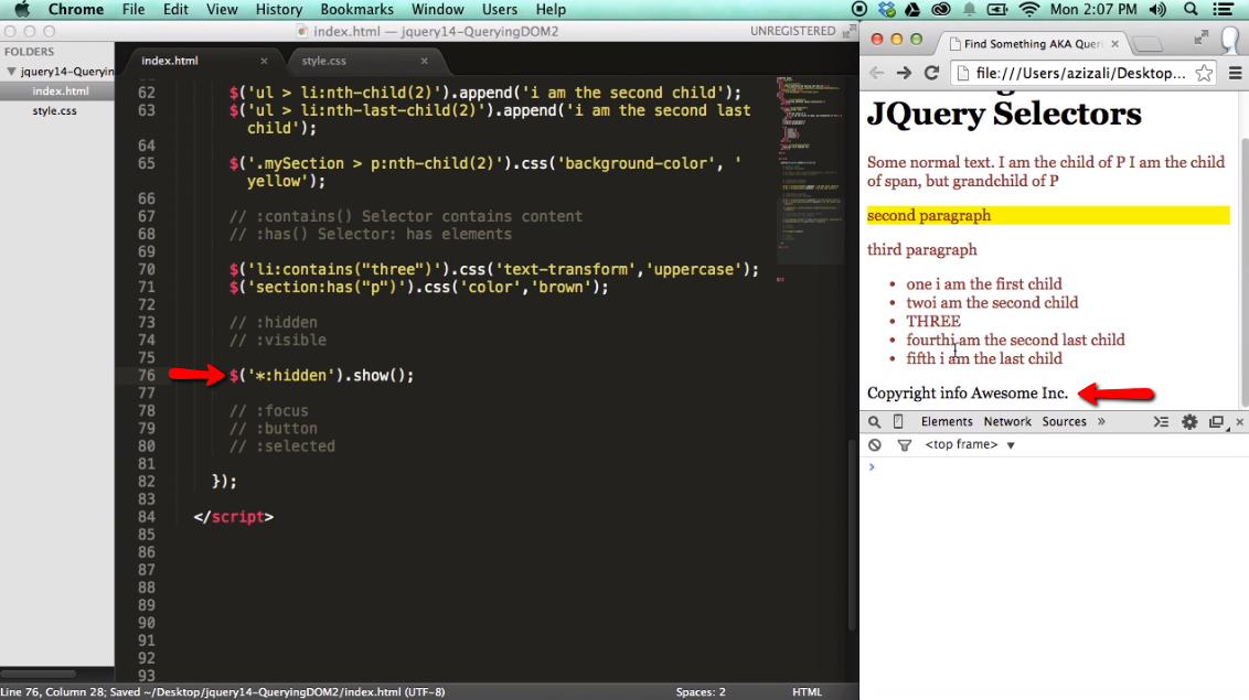 Find Something / Query the DOM with jQuery - part 2 - iLoveCoding