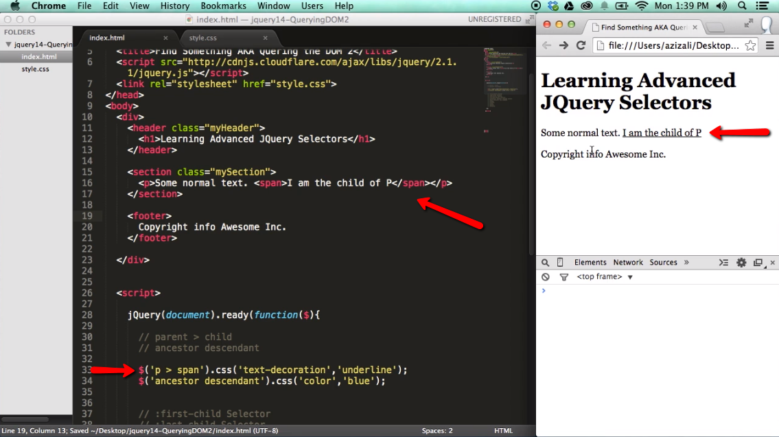 Find Something / Query the DOM with jQuery - part 2