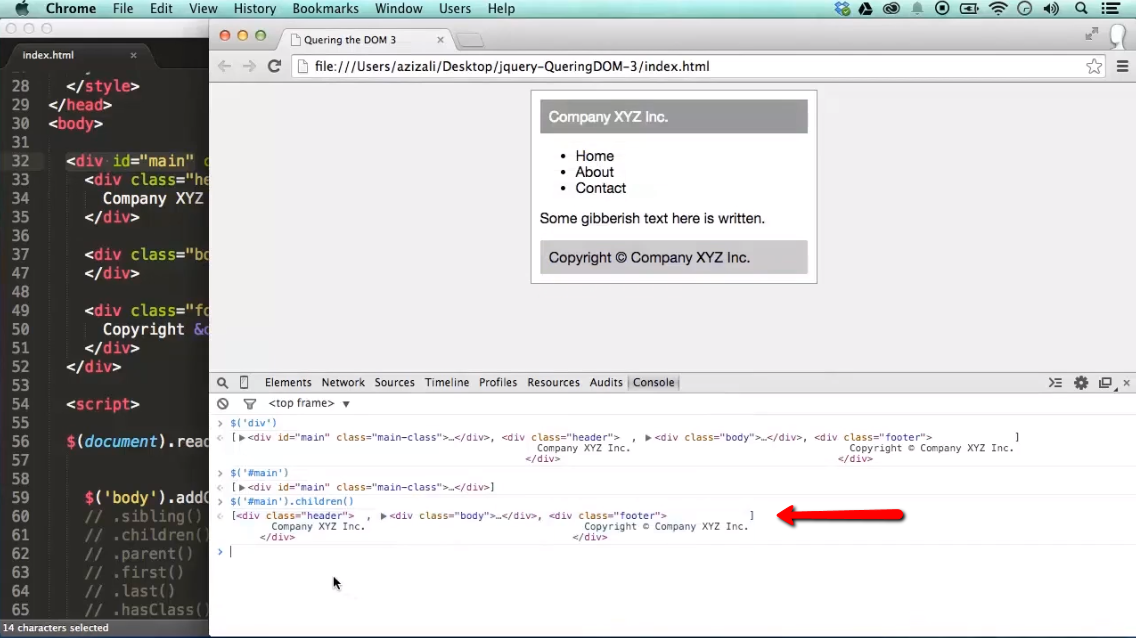 Find Something / Query the DOM with jQuery - part 3