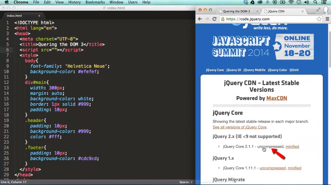 Find Something / Query the DOM with jQuery - part 3 - iLoveCoding
