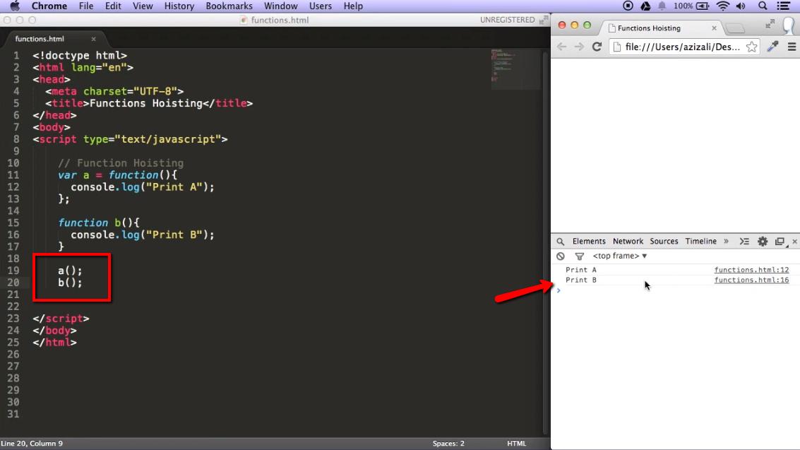 Function Hoisting in JavaScript - iLoveCoding