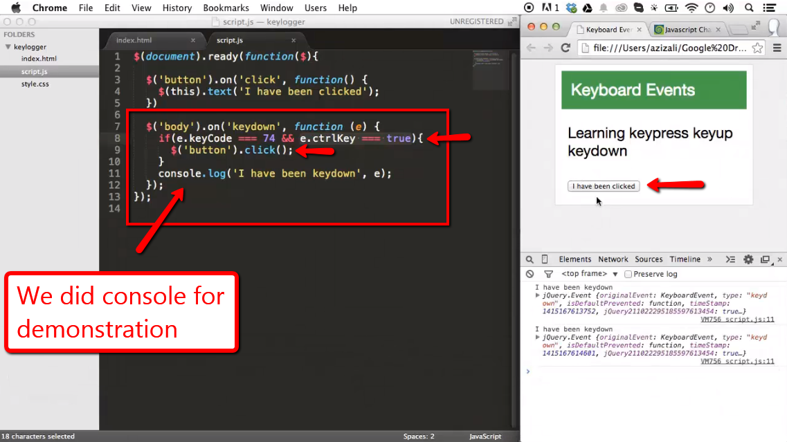 Keyboard Event with jQuery - iLoveCoding